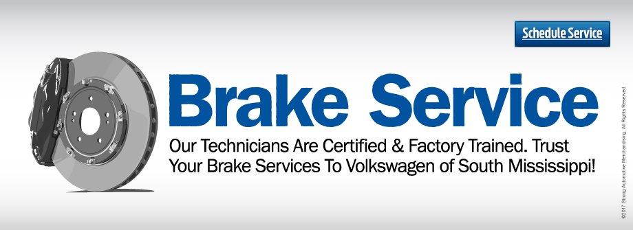 Looking For Your Best Price on Brakes? Choose Volkswagen of South Mississippi!