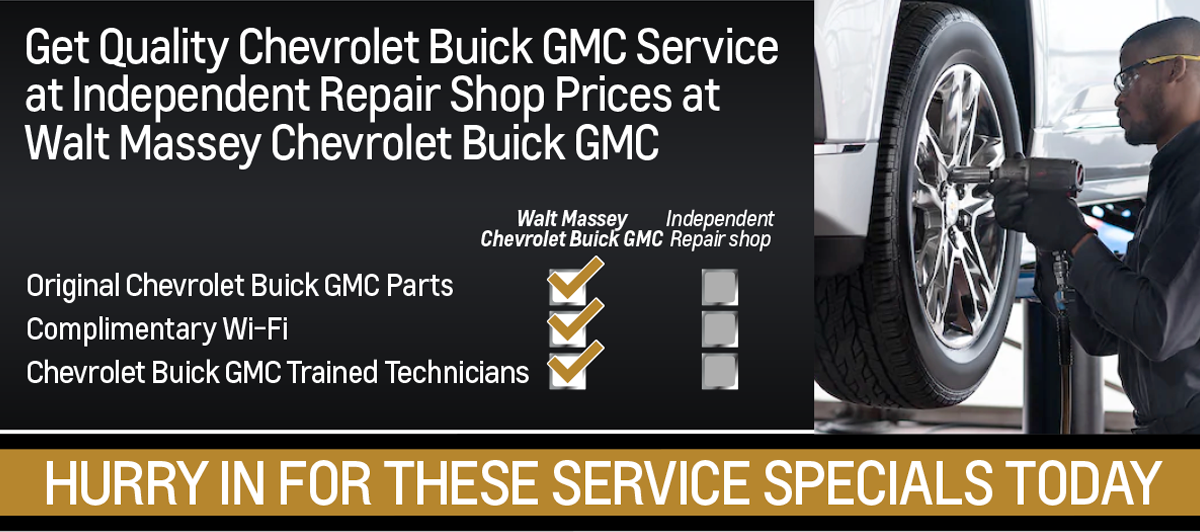 Get Quality Service at Independent Repair Shop Prices at Walt Massey Chevrolet Buick GMC