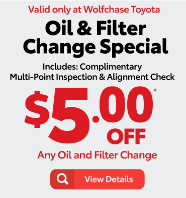 cabin air filter & interior sanitizer special - valid only at Wolfchase Toyota - view details