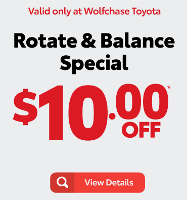 alignment special - valid only at Wolfchase Toyota - view details