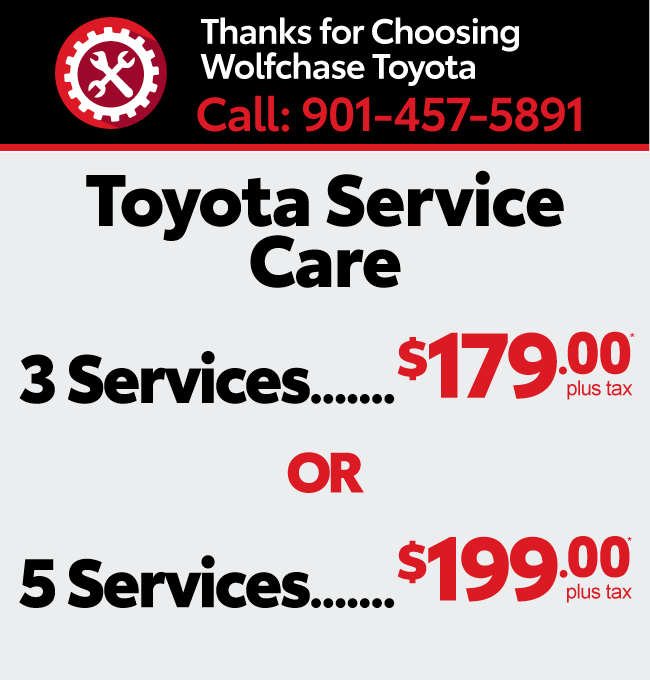 Service your vehicle with Wolfchase Toyota - Oil change and filter special