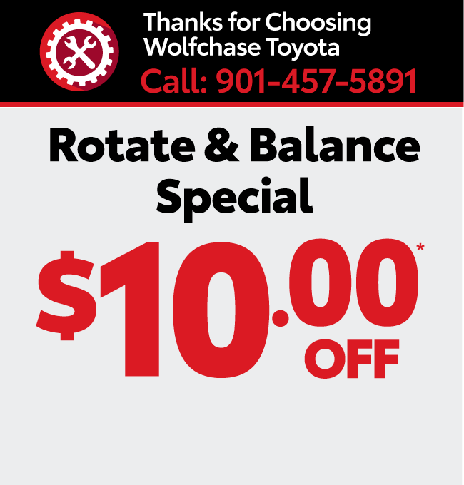 Service your vehicle with Wolfchase Toyota - Alignment special