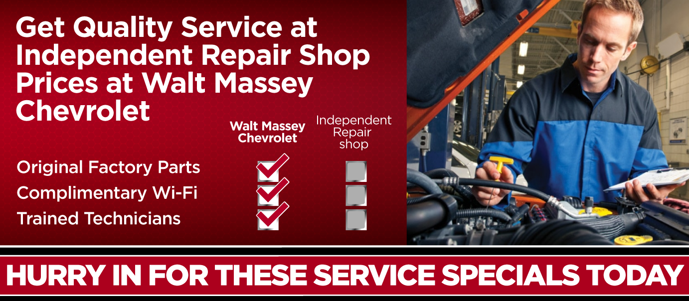 Get Quality Service at Independent Repair Shop Prices at Walt Massey Chevrolet