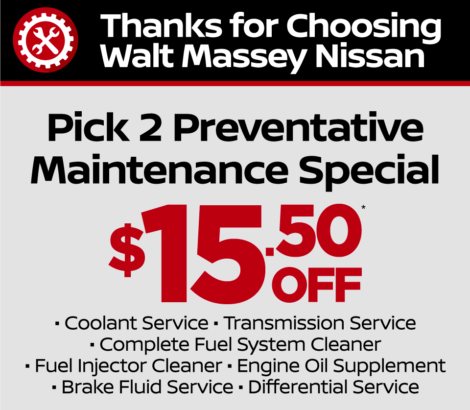 Any Quick Service 10% Off at Walt Massey Nissan